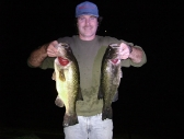 Curt with two night lunker bass