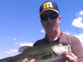 Dave with a nice Indian Lake Largemouth