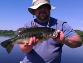 Jake with a nice bass from a day trip