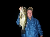 Mike with a big night bass