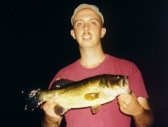 Scott with his biggest night bass