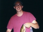 Scott with his first ever smallmouth bass!